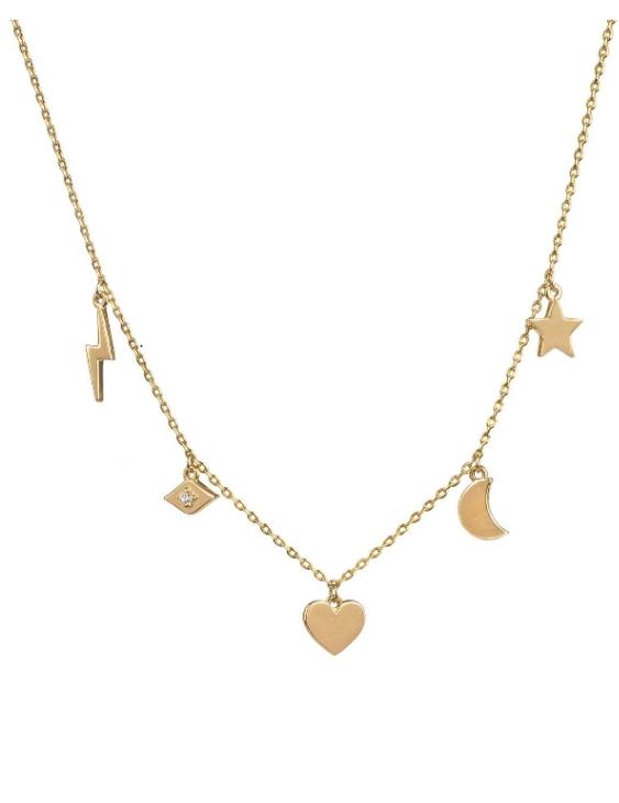 Collar VIDAL&VIDAL X4612738 Metal Antialérgico con Baño de Oro Mujer