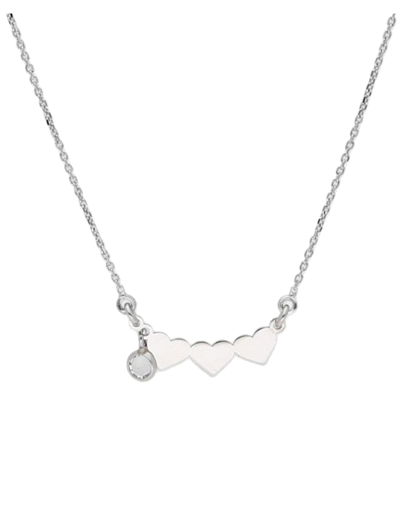 Collar LISKA SWAROVSKI ELEMENTS LSW4276CL Plata Ley Corazon Mujer