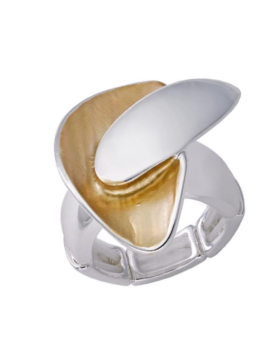 Anillo ANTONELLI 690152 Metal Antialérgico Plateado y Dorado Mujer
