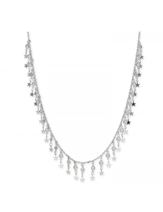 Collar LISKA LAD1115CL Plata con Ciorconitas Mujer