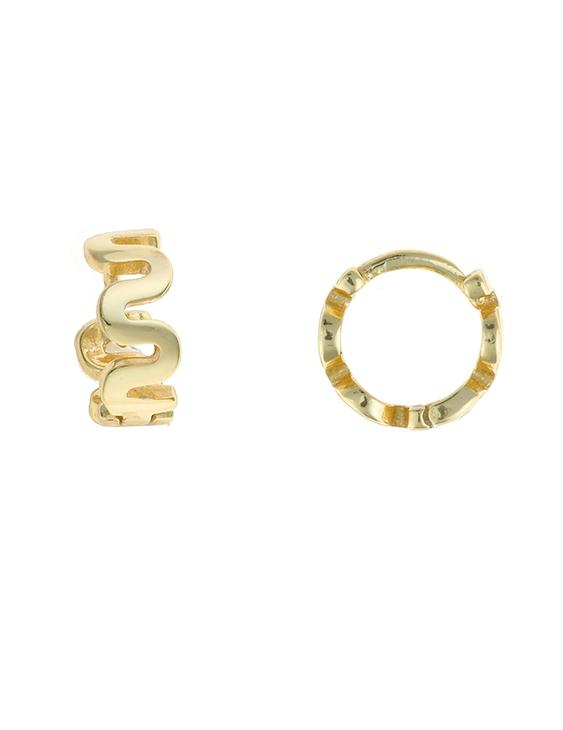 Pendientes SALVATORE 213A0262 Plata con Baño de Oro Mujer