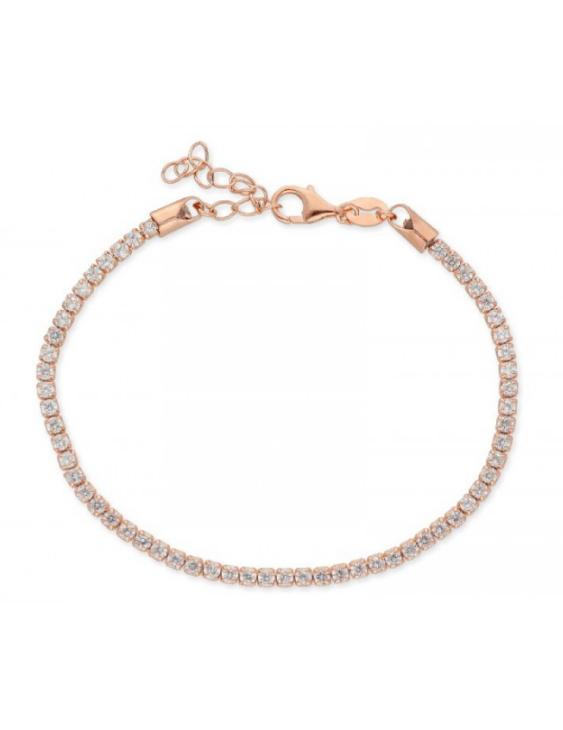 Pulsera LISKA LAD1074BR-R Plata con Baño de Oro Rosa y Circonitas Mujer
