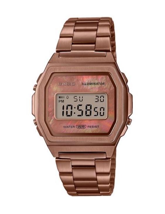 Reloj CASIO A1000RG-5EF VINTAGE Digital Acero IP Marrón Mujer