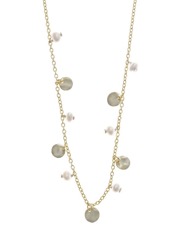 Collar SALVATORE 213C0041 Plata con Baño de Oro y Perlas Mujer.
