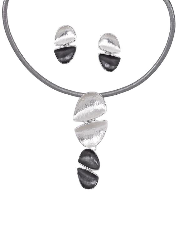 Collar y Pendientes ANTOLELLI 670244 Metal Antialérgico Plateado Mujer
