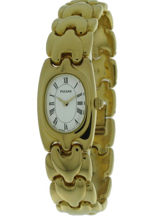 Reloj PULSAR PRY 590 Brazalete Acero Chapado Oro Mujer