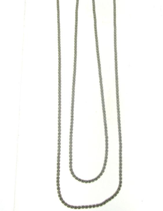 Collar ARQUE 73655 Plata con Circonitas Mujer Medida 90 cm