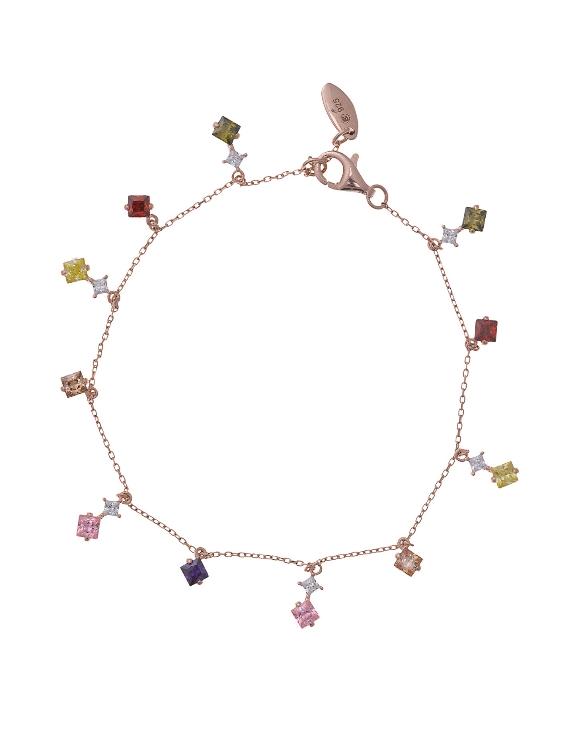 Pulsera SALVATORE 136P0181 Plata con Baño de Oro Rosa y Circonitas Color Mujer