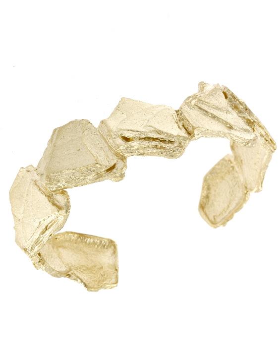 Esclava ESRM044G Plata con Baño de Oro Mujer