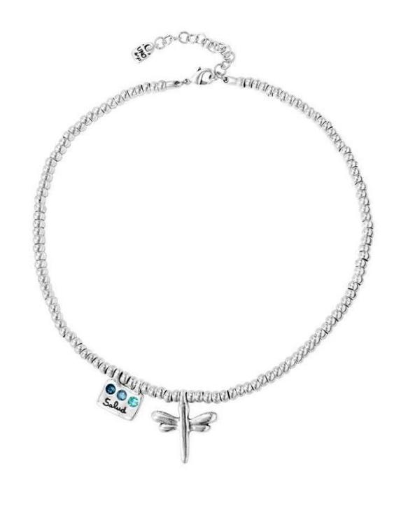 Collar UNO DE 50 COL1589AZUMTL0U Metal con Baño de Plata 15 Micras y Swarovski Mujer