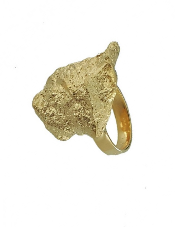 Anillo ANRM042PG Plata con Baño de Oro Mujer. Ajustable.