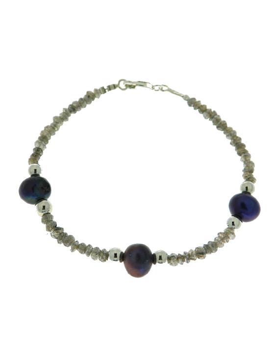 Pulsera ARQUE Espinelas Perlas y plata Mujer