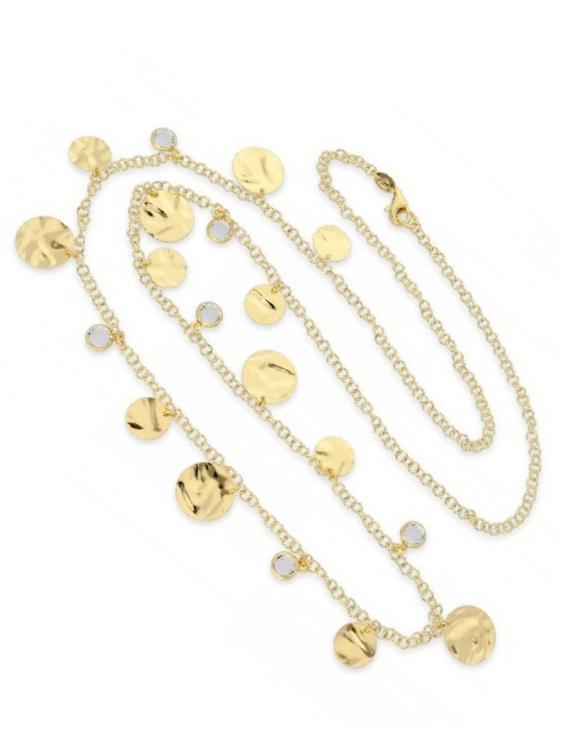 Collar LISKA LSW4222CL-D Plata con Baño de Oro y Circonitas Mujer