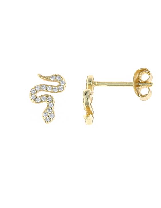 Pendientes SALVATORE 213A0261 Plata con Baño de Oro y Circonitas Mujer