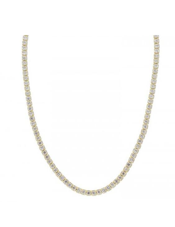 Collar LISKA LAD1074CL-D Plata con Baño de Oro y Circonitas Mujer
