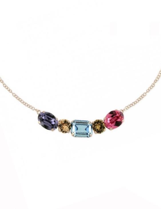 Collar LISKA SWAROVSKI ELEMENTSLSW2275CL Plata Chapado Oro Rosa Mujer