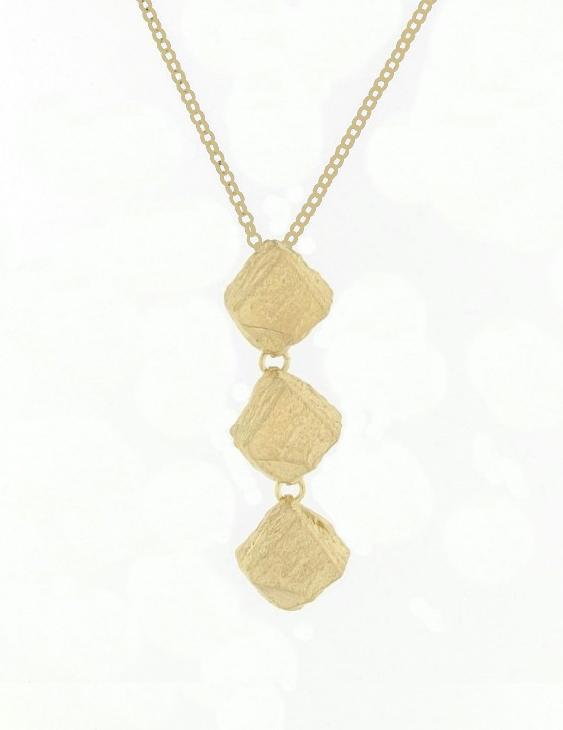 Colgante PERM044PG Plata con Baño de Oro Mujer