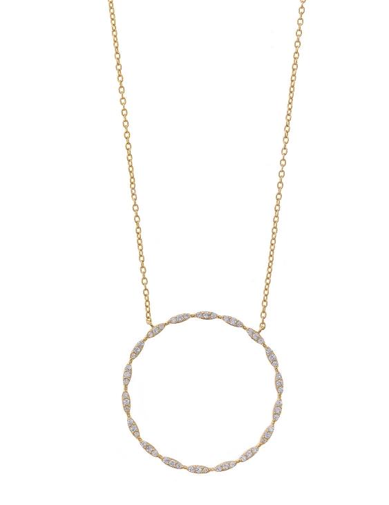 Collar SALVATORE 213C0073 Plata con Baño de Oro y Circonitas Mujer