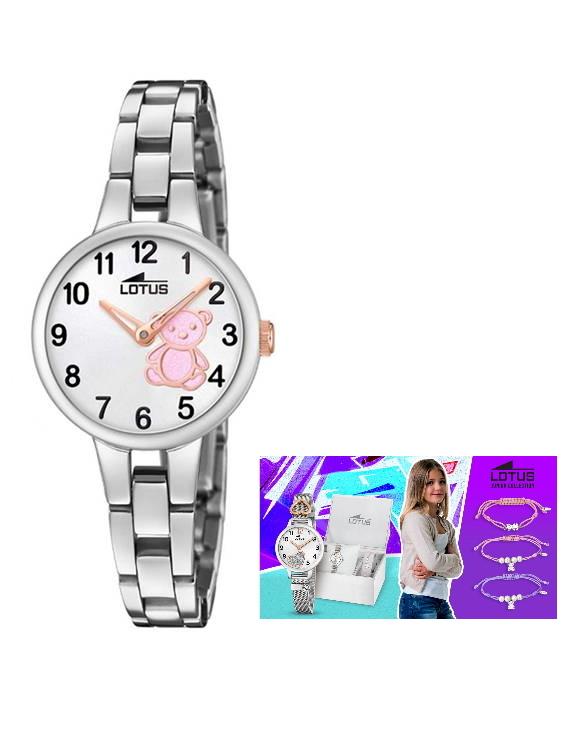 Reloj LOTUS 18658/6 y Pulsera Plata de Regalo Niña