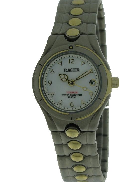 Reloj RACER HE7V004 Brazalete Titanio Bicolor Mujer