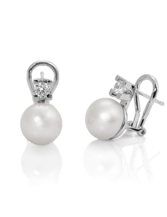 Pendientes VIDAL&VIDAL R1151A Metal Antialérgico con Perlas Cultivadas y Circonitas Mujer
