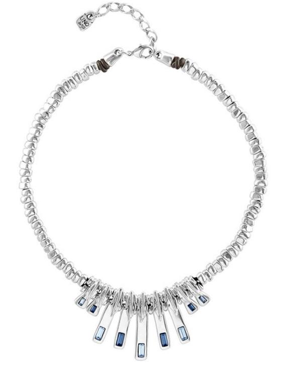 Collar UNO DE 50 COL1454AZUMTL0U Metal con Baño de Plata 15 micras. Mujer