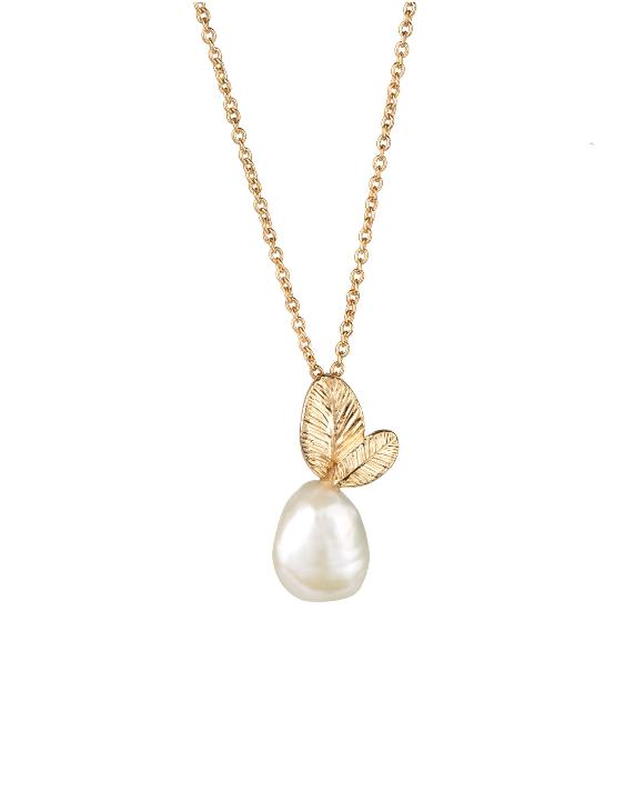 Collar VIDAL&VIDAL X4531738 Metal Antialérgico con Baño de Oro y Perla