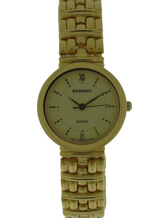 Reloj RADIANT 2150017-2 Brazalete Acero Chapado Oro Mujer
