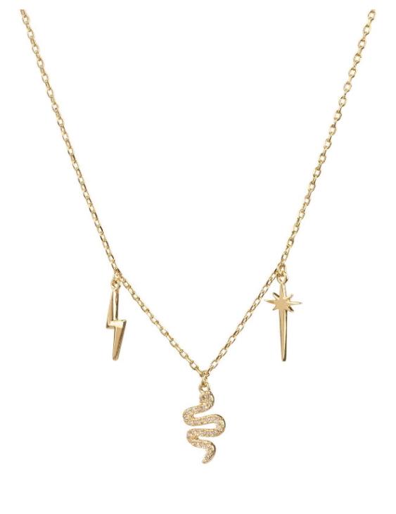 Collar VIDAL&VIDAL X4613038 Metal Antialérgico con Baño de Oro y Circonitas Mujer