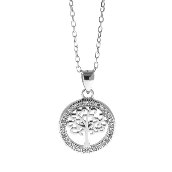 Collar LISKA LAD4463CL Plata con Circonitas Arbol de la Vida Mujer