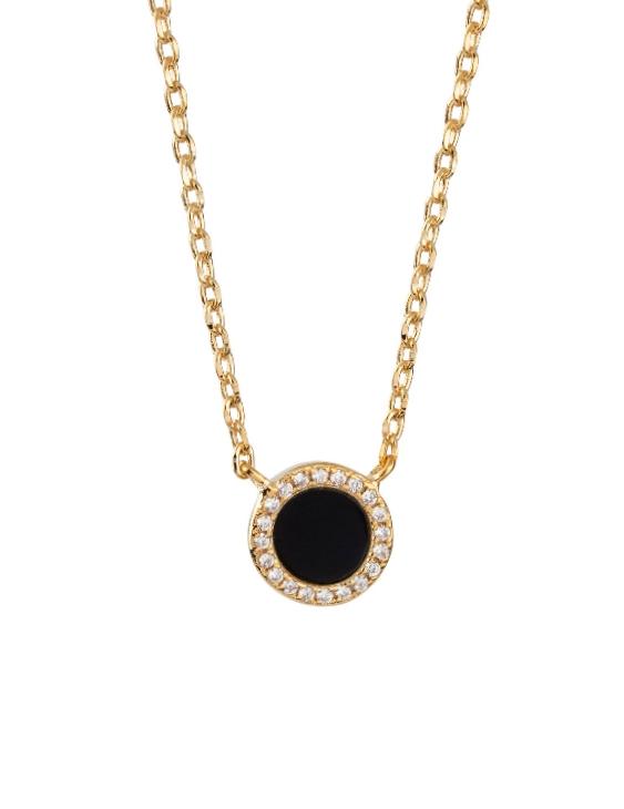 Collar VIDAL&VIDAL X4520138 Metal Antialérgico con Baño de Oro Circonitas y Onix Mujer