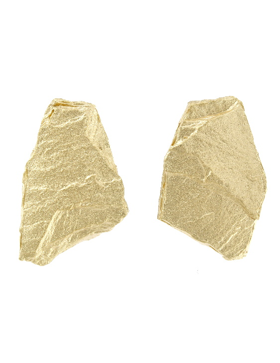 Pendientes ARRM044G Plata con Baño de Oro Mujer. Cierre Omega