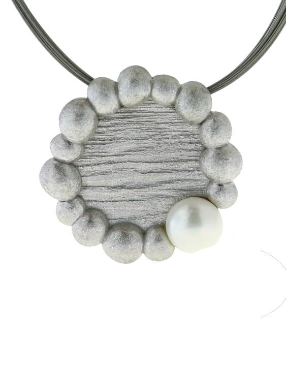 Collar ARQUE PE2134 Plata con Perla Mujer