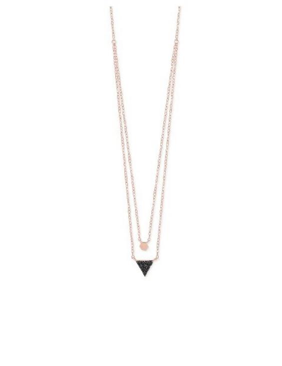 Collar LISKA LAD4341CL Plata con Baño de Oro Rosa con Circonitas Mujer