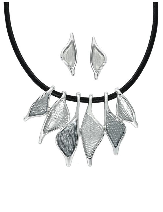 Collar y Pendientes ANTOLELLI 670276 Metal Antialérgico Plateado Mujer