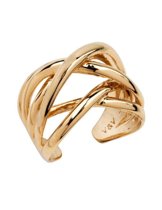 Anillo VIDAL&VIDAL X447721620 Metal Antialérgico con Baño de Oro Mujer