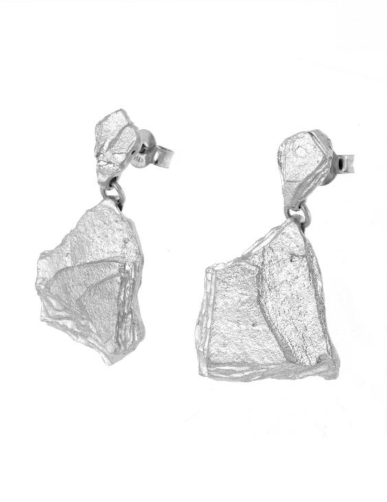 Pendientes ARRM044 Plata Mujer. Cierre Presión.