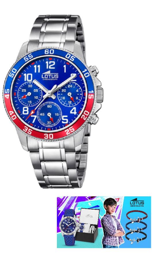 Reloj LOTUS 18580/4 y Pulsera Plata de Regalo Niño