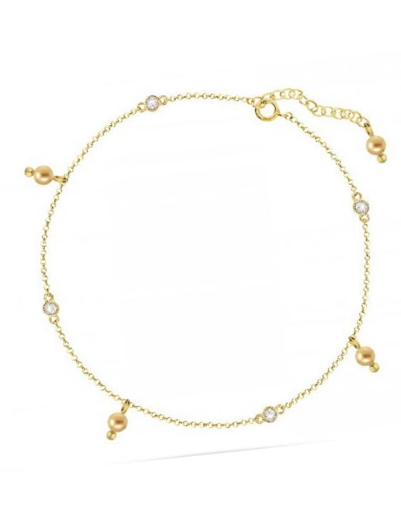 Tobillera LISKA SWAROVSKI ELEMENTS LSW0147TB Plata con Baño de Oro Mujer