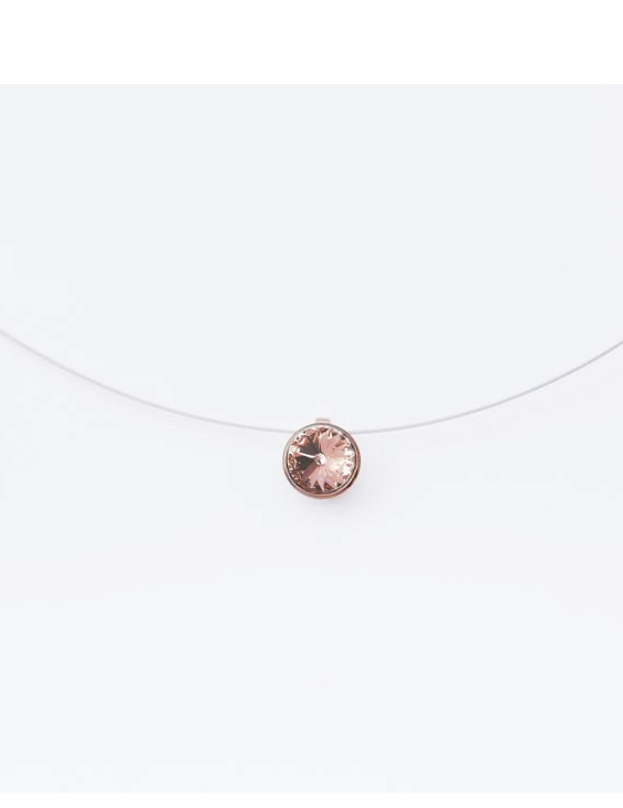 Collar 602312-RS Acero con Swarovski Mujer