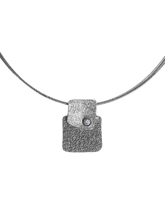 Collar ARQUE PE2141 Plata con Circonitas Mujer