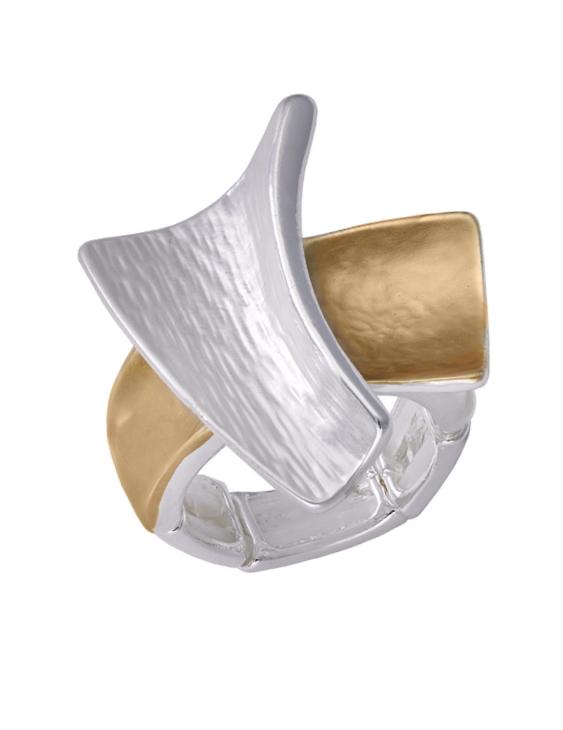 Anillo ANTONELLI 690145 Metal Antialérgico Plateado y Dorado Mujer