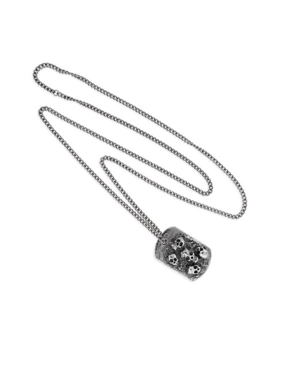 Collar SCULL RIDER SR004 Acero