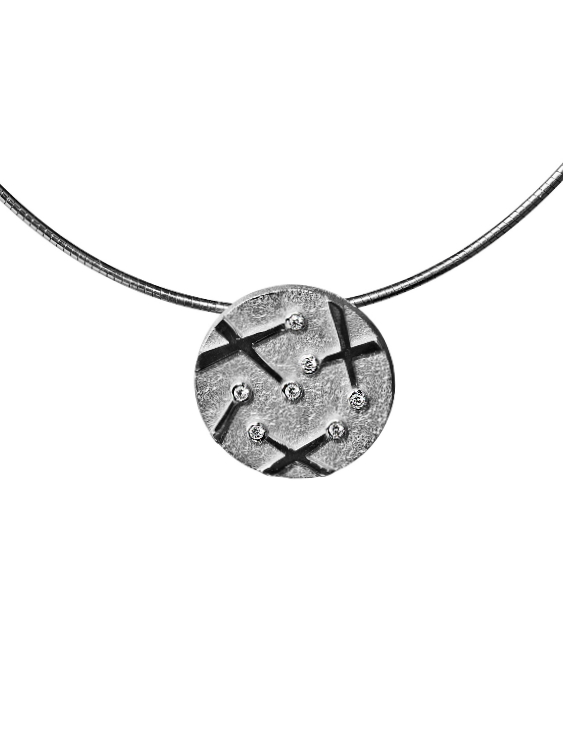 Collar ARQUE PE2095/P Plata  con Circonitas Mujer