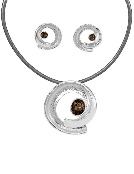 Collar y Pendientes ANTOLELLI 670226 Metal Antialérgico Plateado Mujer