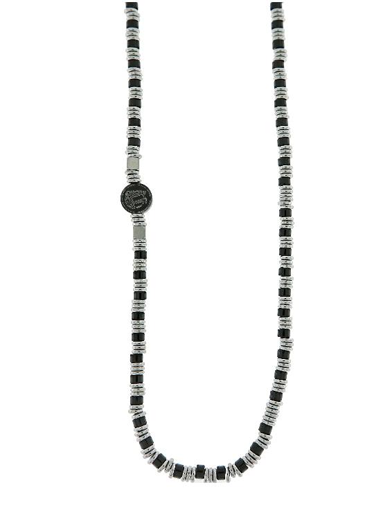 Collar SCULL RIDER SR104 Acero con Piedras Naturales