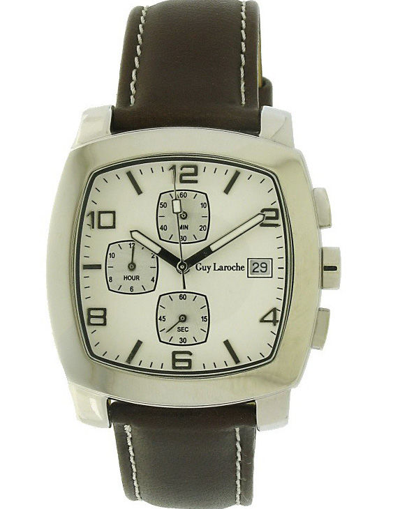 Reloj GUY LAROCHE LX5404BP Cronógrafo Correa Piel Unisex