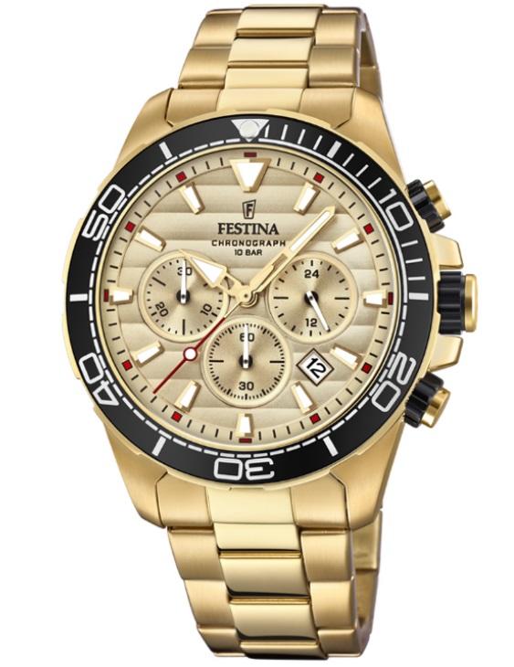 Reloj FESTINA F20364/1 PRESTIGE Cronografo Acero IP Dorado Hombre