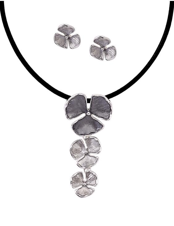 Collar y Pendientes ANTOLELLI 670247 Metal Antialérgico Plateado Mujer