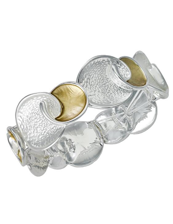 Pulsera ANTONELLI 660285 Metal Antialérgico Plateado y Dorado Mujer